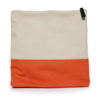 Fashion Color Block Design Clutch For Women -  ORANGE