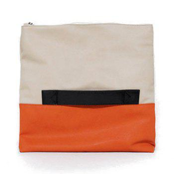 Fashion Color Block Design Clutch For Women - ORANGE ORANGE