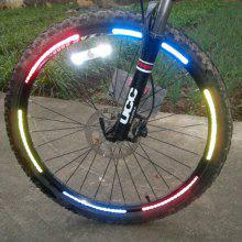 8 PCS / Sheet Bicycle Wheel Reflective Stickers Bike Wheel Safe Accessories