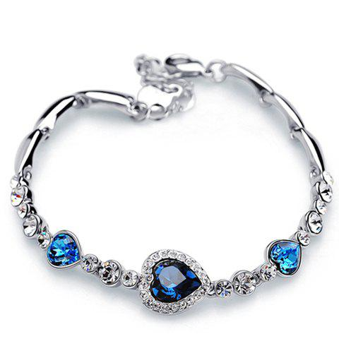 Delicate Chic Heart Rhinestone Bracelet For Women - AS THE PICTURE