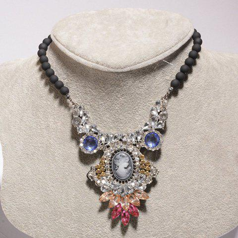 Luxurious Rhinestone Figure Necklace For Women - AS THE PICTURE