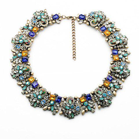Hyperbolic Charming Rhinestoned Necklace For Women - AS THE PICTURE