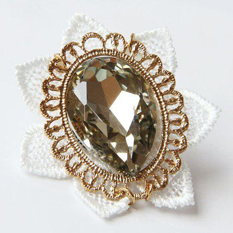 Stylish Chic Gem Lace Flower Brooch For Women - COLORMIX