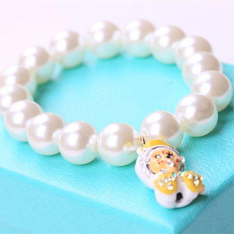 Sweet Cute Pearl Doll Pendant Bracelet For Women - AS THE PICTURE