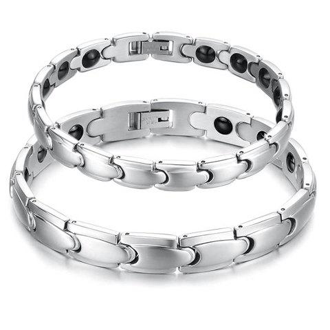 ONE PIECE Stylish Chic Solid Color Lover Couple Bracelet - FEMALE