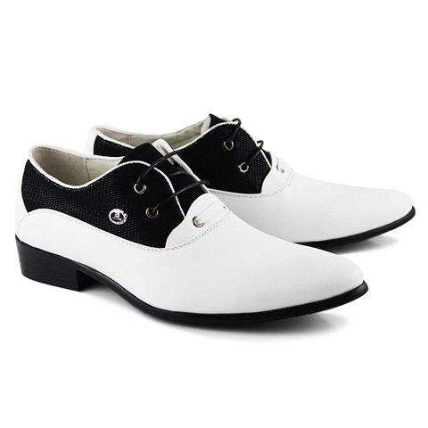dress pointed toe and lace up design s formal shoes