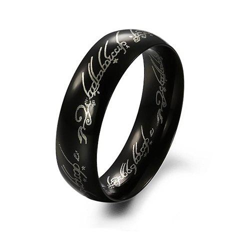 Image For Chic Black Round Ring For Men