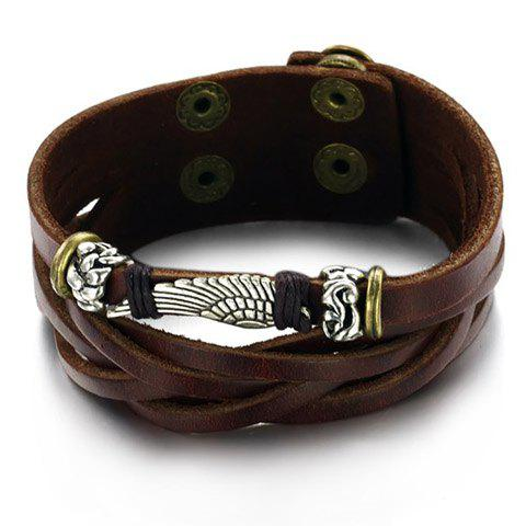 Image For Chic Layered Leather Chain Bracelet For Men