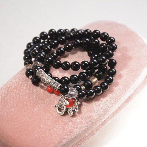 Elephant Beads Wrap Bracelet - AS THE PICTURE