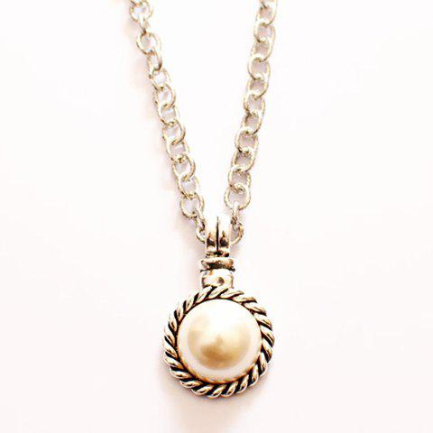 Image For Cute Pearl Pendant Sweater Chain Necklace For Women