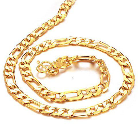 Stylish Chic Link Gold Necklace For Men - AS THE PICTURE