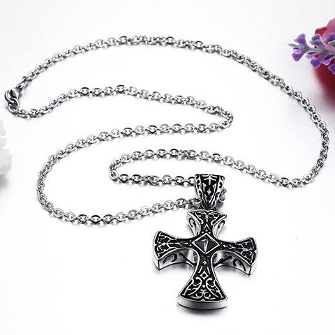 Image For Fashion Cross Pendant Necklace For Men