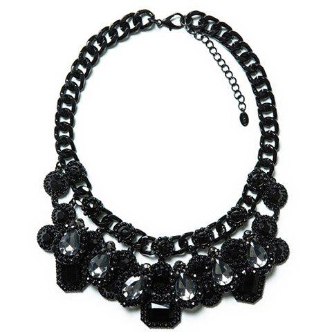 Image For Stylish Rhinestone Drip Necklace For Women