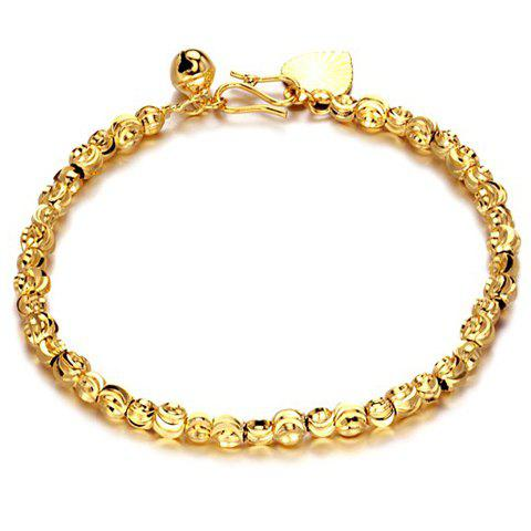 Image For Chic Beads Heart Pendant Solid Color Bracelet For Women