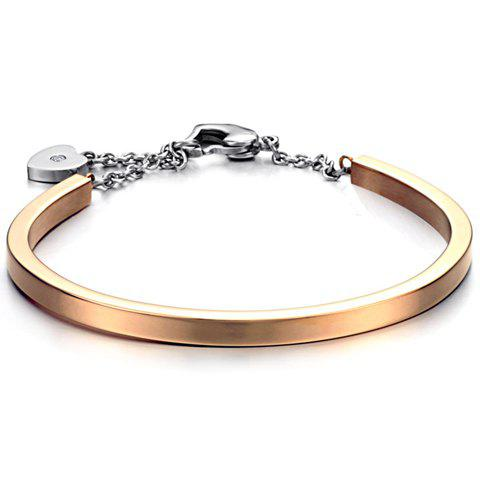 Cute Heart Pendant Solid Color Bracelet For Women - AS THE PICTURE