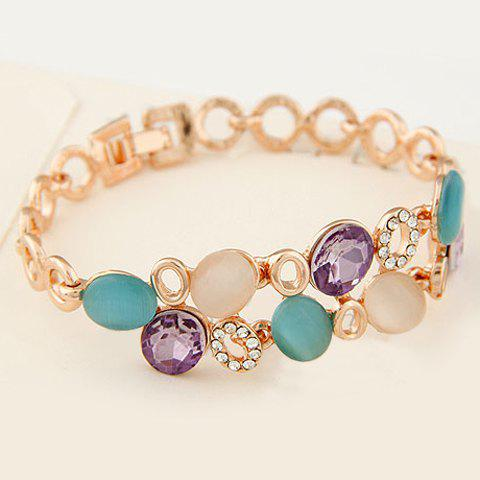 Fashion Style Candy Color Gemstone Cute Bracelet - AS THE PICTURE