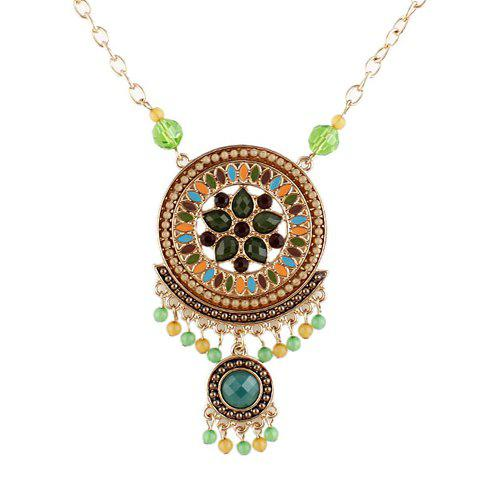 Ethnic Style Faux Pearl Embellished Beads Women's Alloy Necklace - AS THE PICTURE