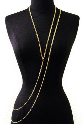 Trendy Layered Gold Link Women's Body Chain