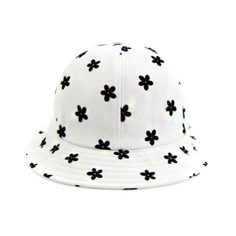 Fascinating Floral Pattern Bucket Hat For Women - WHITE