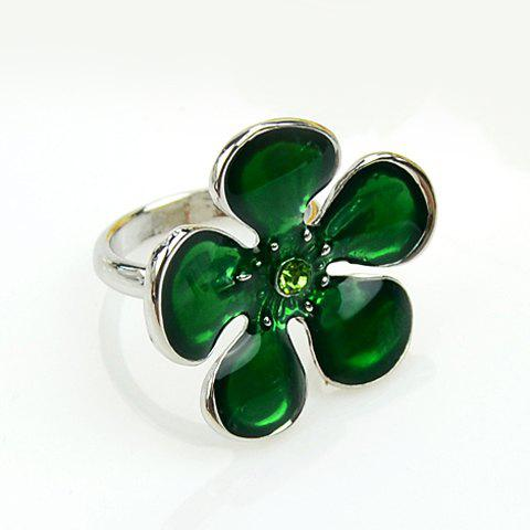 Retro Style Elegant Sakura Shape Ring For Women - GREEN ONE-SIZE