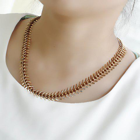 Chic Solid Color Wheat Shape Women's Necklace