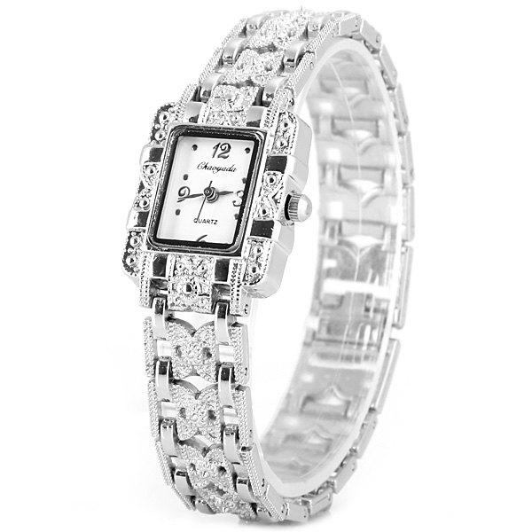 Chaoyada Beautiful Quartz Chain Watch with Rectangle Dial Steel Watch Band for Women от Dresslily.com INT