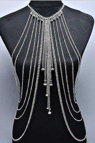 Stylish Solid Color Symmetry Multi-Layered Pendant Decorated  Women's Body Chain - COLOR ASSORTED