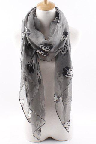 New Panda Pattern Scarf For Women - GRAY