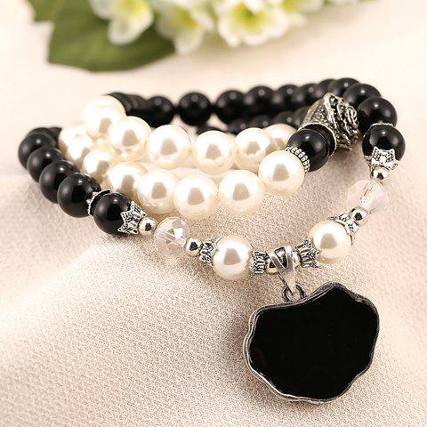 Elegant Beads Embellished Fish Shape Bracelet For Women - AS THE PICTURE