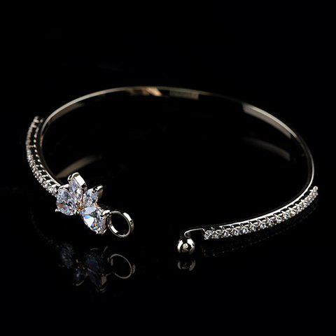 Fashion Rhinestone Embellished Bowknot Bracelet For Women - COLOR ASSORTED