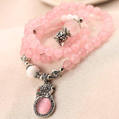 Elegant Beads and Rhinestone Embellished  Women's Bracelet - AS THE PICTURE