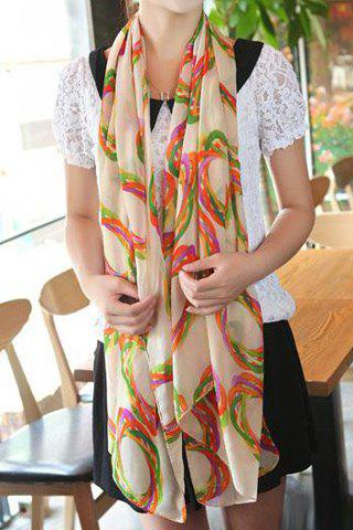 Chic Bird's Nest Design Color Splicing Chiffon Scarf For Women