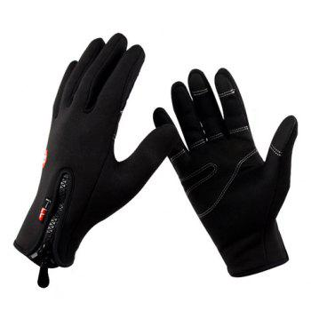 Pair of Hot Sale Zipper Design Splicing Cycling Gloves For Men