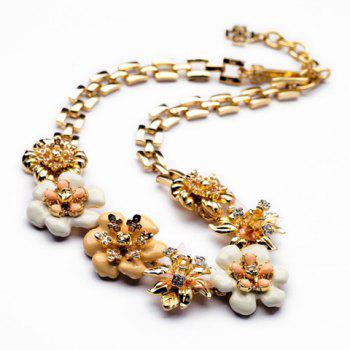Bohemian Style Seven Flowers Embellished Women's Necklace - AS THE PICTURE