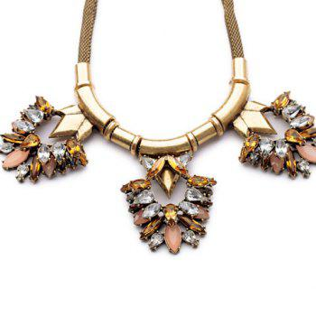 Punk Style Gemstone Embellished Special Shape Necklace For Women - AS THE PICTURE