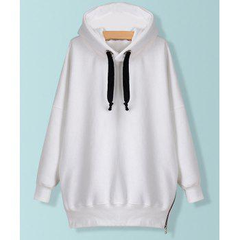 Solid Color Zipper Embellished Long Sleeve Casual Style Women's Hoodie