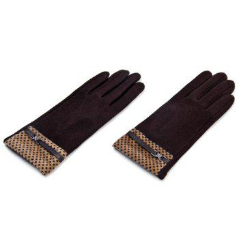 Pair of Material Splicing Touch Screen Gloves For Women -  COLOR ASSORTED