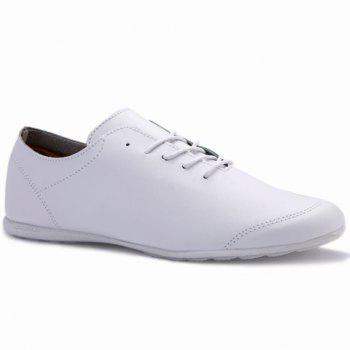 Concise Solid Color and PU Leather Design Casual Shoes For Men