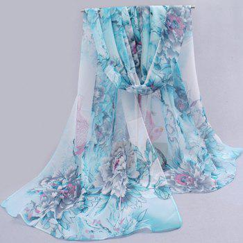 Buy Charming Flower Pattern Anti-UV Scarf Women COLOR ASSORTED