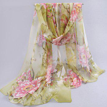 Charming Flower Pattern Anti-UV Scarf For Women - COLOR ASSORTED