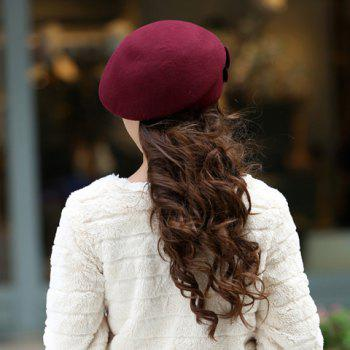 Vintage Two Flowers Design Beret Hat For Women - ONE SIZE ONE SIZE