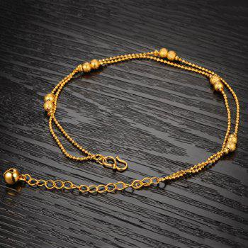 Stylish Chic Women's Beads Link Fancy Anklets -  GOLDEN