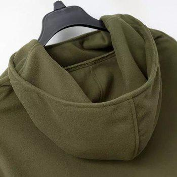 Street Style Solid Color Hooded Long Sleeve Worsted Cloak For Women - ARMY GREEN S