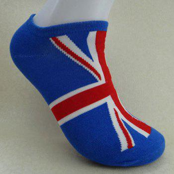Pair of Stylish Character Flag Pattern Socks For Men