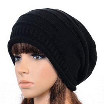Stylish Chic Women Ruched Solid Color Knitting Hat