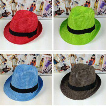 Chic Style Solid Color Peaked Fedora Straw Hat - COLOR ASSORTED COLOR ASSORTED