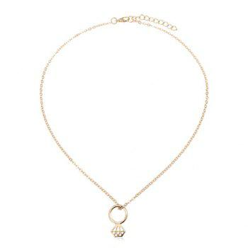 Chic Solid Color Pendant Necklace For Women