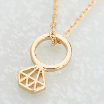 Chic Solid Color Pendant Necklace For Women - GOLDEN