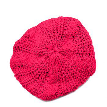 Stylish Chic Women's Solid Color Knitting Beret Hat - COLOR ASSORTED