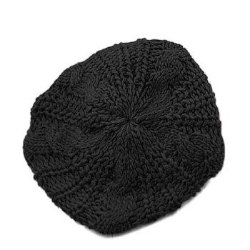 Stylish Chic Women's Solid Color Knitting Beret Hat - COLOR ASSORTED COLOR ASSORTED